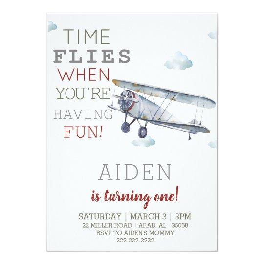 airplane birthday party invitation zazzle com