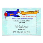 Airplane Birthday Party Personalized Invite