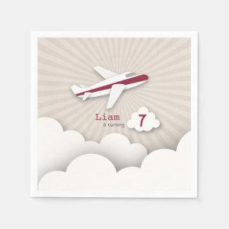 Airplane Birthday Party - Red Napkin