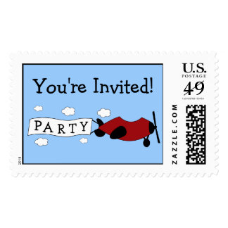 Airplane Birthday Postage Stamps