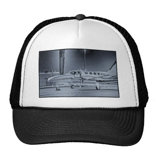 "Airplane ""black white"" photo picture HDR T-Shirt Mesh Hat"