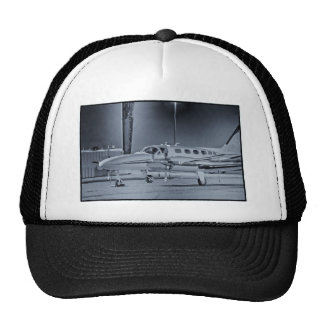"Airplane ""black white"" photo picture HDR T-Shirt Trucker Hat"