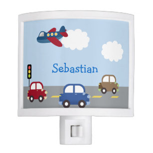 Airplane Boys Nursery Room Night Light