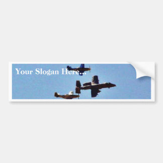 Airplane Car Bumper Sticker
