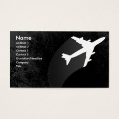 Airplane Business Card at Zazzle