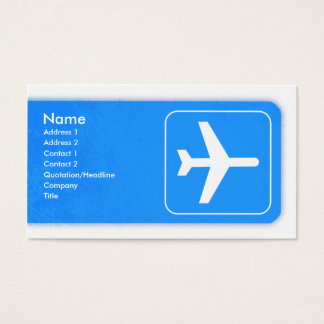 Airplane Business Card template