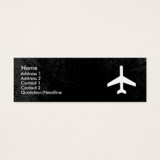 Airplane Business Card Template at Zazzle