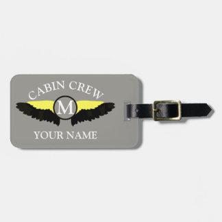 Airplane cabin crew luggage tag
