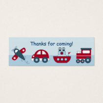 Airplane Car Boat Train Favor Gift Tags