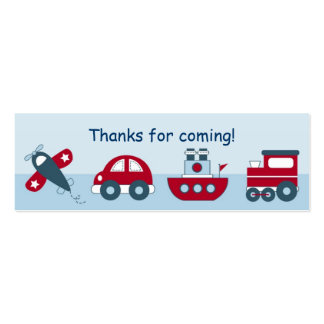 Airplane Car Boat Train Favor Gift Tags Business Card