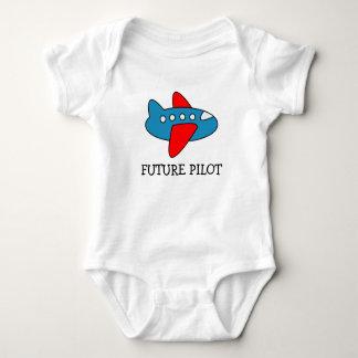 Airplane cartoon baby creeper for future pilot