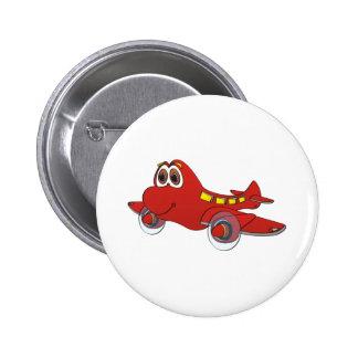 Airplane Cartoon Button