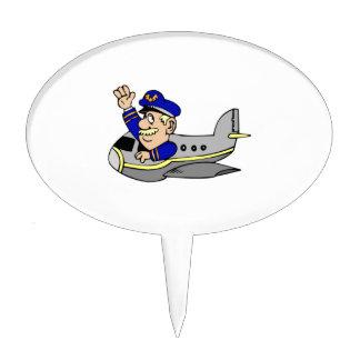 Airplane Cartoon Cake Topper