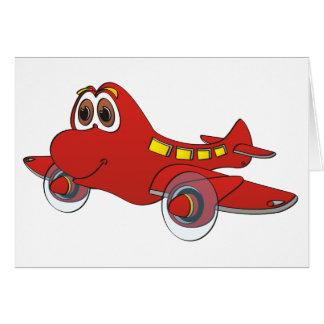 Airplane Cartoon Card