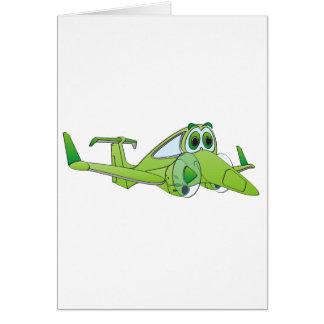 Airplane Cartoon Greeting Cards