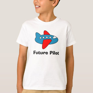 Airplane cartoon kids tee shirt for future pilot