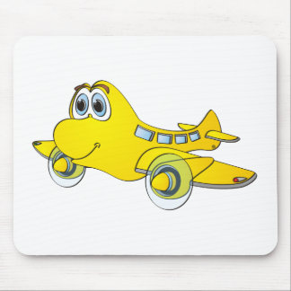 Airplane Cartoon Mouse Pad