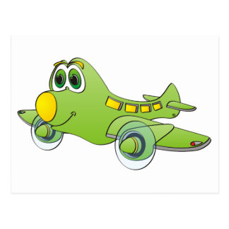 Airplane Cartoon Post Card