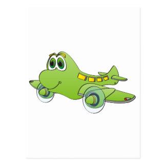 Airplane Cartoon Postcard
