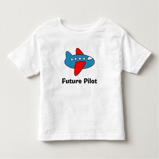 Airplane cartoon toddler t shirt for future pilot