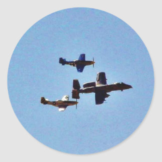 Airplane Classic Round Sticker
