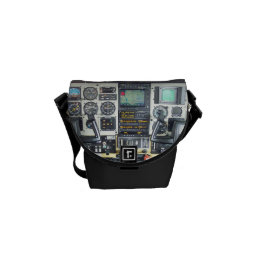 Airplane Cockpit Courier Bag