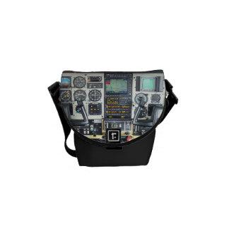 Airplane Cockpit Courier Bag
