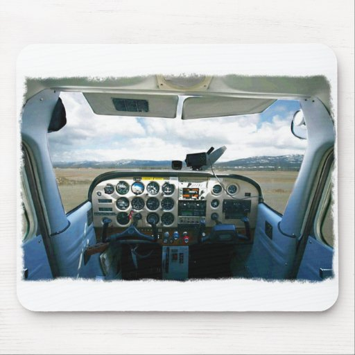 Airplane Cockpit Mouse Pad