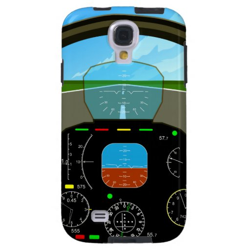 AirPlane Cockpit samsung Galaxy S4 Case  Zazzle