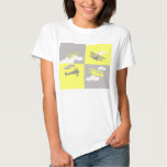 Airplane collage on grey and yellow. shirt