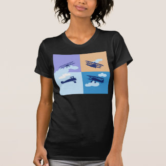 Airplane collage on pastel colors. dresses