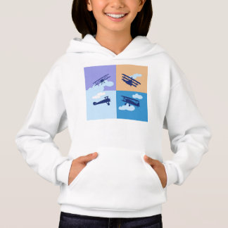 Airplane collage on pastel colors. hoodie