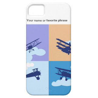 Airplane collage on pastel colors. iPhone 5 cases