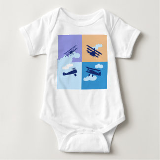Airplane collage on pastel colors. t shirts