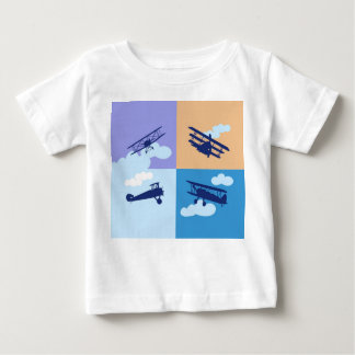 Airplane collage on pastel colors. shirt