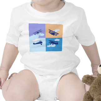 Airplane collage on pastel colors. tshirts