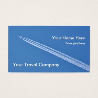 Airplane contrails business card