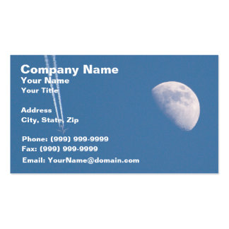 Airplane Crossing the Sky Business Card Template