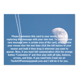 Airplane Crossing the Sky 5x7 Paper Invitation Card