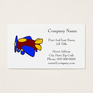Airplane Cute Colorful Cartoon Plane Business Card