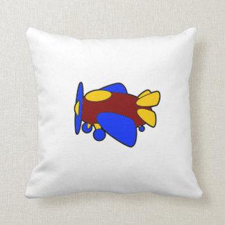 Airplane Cute Colorful Cartoon Plane Throw Pillow
