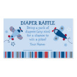 Airplane Diaper Raffle Tickets Double-Sided Standard Business Cards (Pack Of 100)