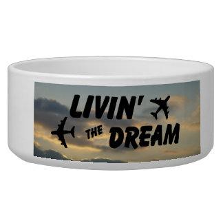 Airplane Dream Dish Pet Food Bowls
