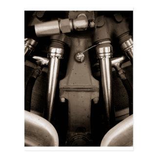 Airplane engine postcard