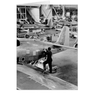 Airplane Factory 1940 Card