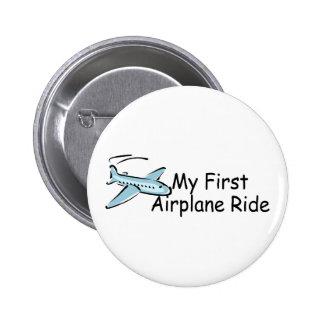 Airplane First Airplane Ride 2 Inch Round Button