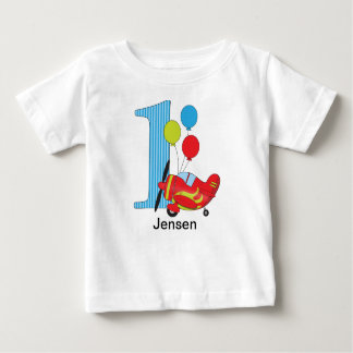 Airplane First Birthday Tshirt Personalized