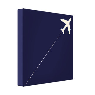 airplane flight route gallery wrap canvas