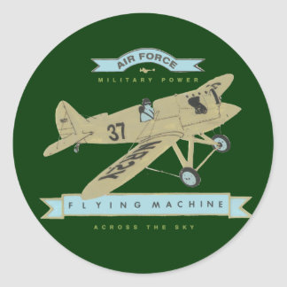 Airplane fly round stickers