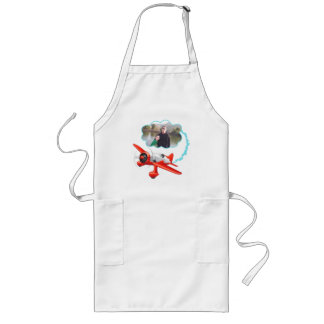 Airplane Flying High Add Your Photo Long Apron